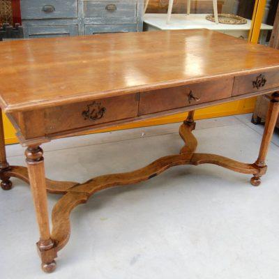 grande scrittoio scrivania in stile luigi xiv fronte 152 cm noce fine 800 01 10