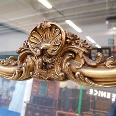 grande specchiera dorata meta 800 doratura originale h 168 cm 01 8