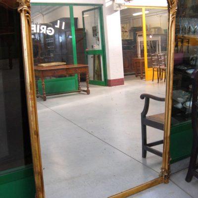 grande specchiera dorata meta 800 doratura originale h 168 cm 01 9