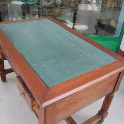 scrivania scrittoio in rovere massello lato 129 cm 01 8