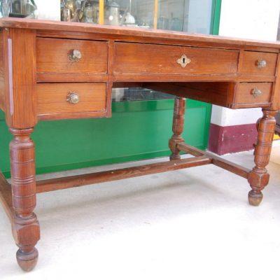 scrivania scrittoio in rovere massello lato 129 cm 01 9