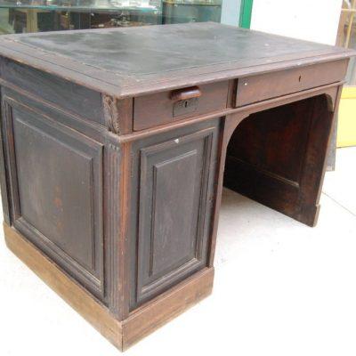 scrivania in rovere massello e larice fine 800 fronte 120 cm 01 14
