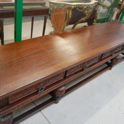 servante tavolo basso neorinascimentale lungo 248 cm rovere 01 5