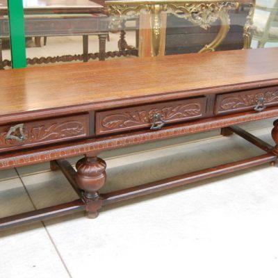 servante tavolo basso neorinascimentale lungo 248 cm rovere 01 7