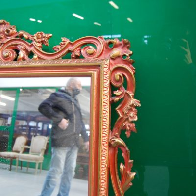 specchio in legno scolpito e laccato h 116 cm 01 1