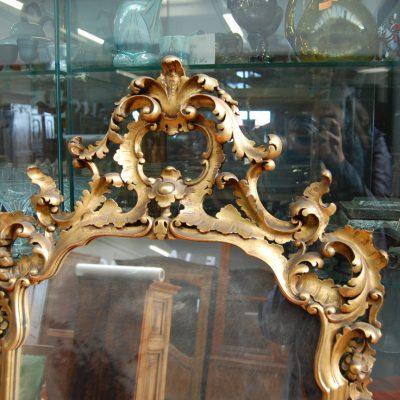 specchio specchiera in legno scolpita e dorata 68 x 125 cm 01 1