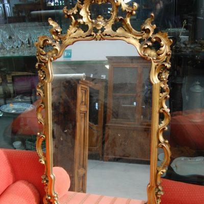 specchio specchiera in legno scolpita e dorata 68 x 125 cm 01 10