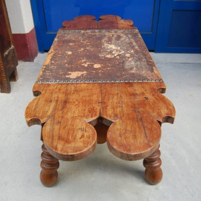 tavolino panchetta etnica in legno esotico lunga 130 cm 01 1