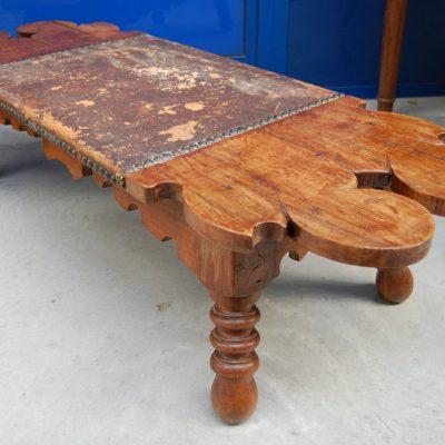 tavolino panchetta etnica in legno esotico lunga 130 cm 01 9
