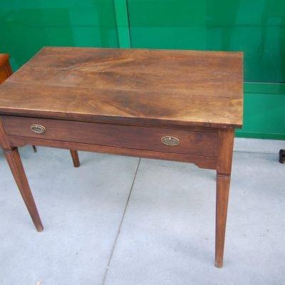 tavolino scrittoio stile luigi xvi noce prima meta 800 fronte 94 5 cm 01