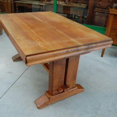 tavolo in rovere massello inizio 900 lato 154 cm 01 9