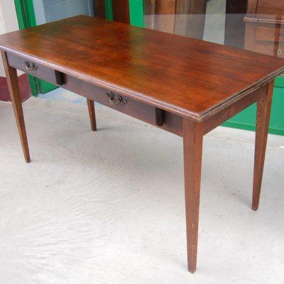 tavolo scrittoio in rovere e faggio fronte 140 cm gamba stiletto 01 5