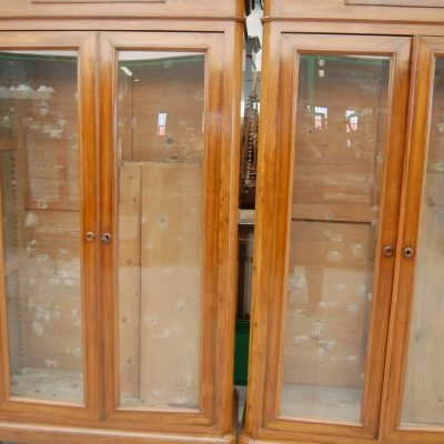coppia di librerie biblioteche vetrine 800 italia fronte 116 cm 01 15