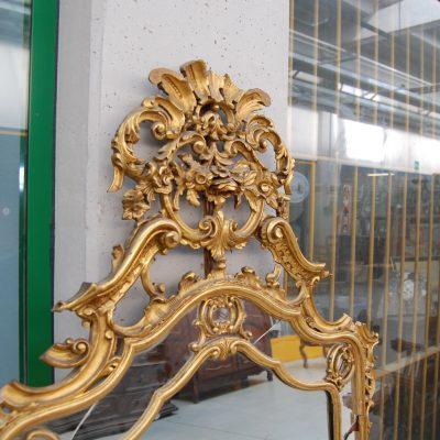 grande specchio specchiera in stile luigi xiv scolpita dorata 01 1