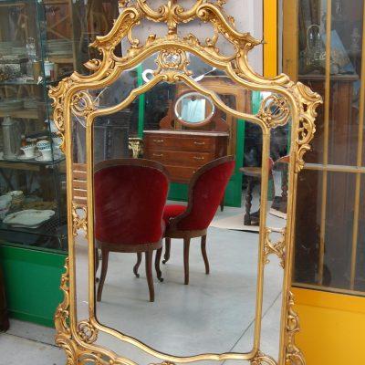 grande specchio specchiera in stile luigi xiv scolpita dorata 01 12