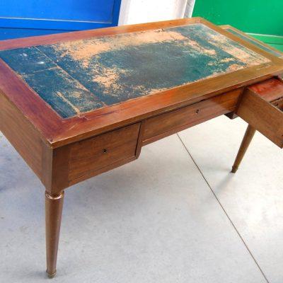 scrittoio scrivania in noce con piani estraibili lato 131 cm 800 01 13
