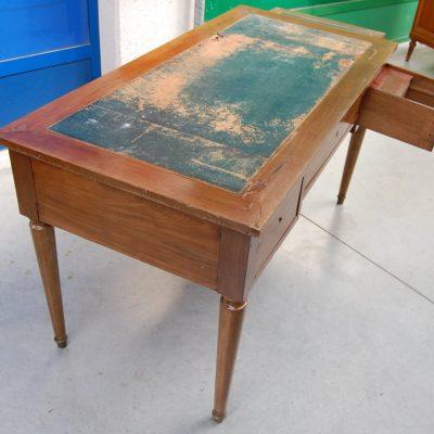 scrittoio scrivania in noce con piani estraibili lato 131 cm 800 01 7