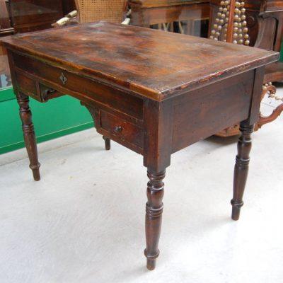 scrivania scrittoio in pioppo luigi filippo 800 fronte 108 cm 01 12