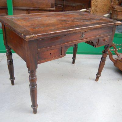 scrivania scrittoio in pioppo luigi filippo 800 fronte 108 cm 01