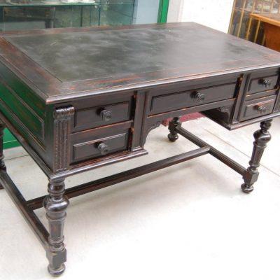 scrivania scrittoio in pioppo umbertino fronte 130 cm 01 19