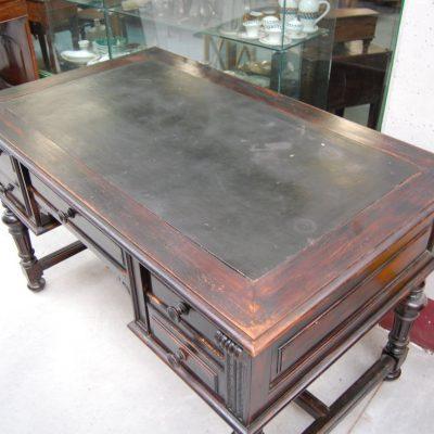 scrivania scrittoio in pioppo umbertino fronte 130 cm 01 4