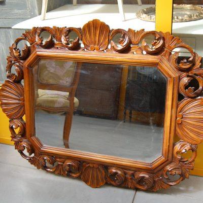 specchio scolpito con conchiglia primo 900 lato 82 cm 01 1