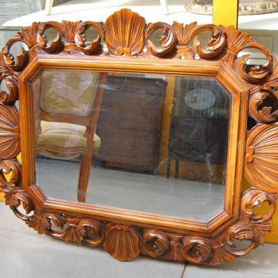 specchio scolpito con conchiglia primo 900 lato 82 cm 01 5