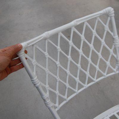 tavolo e sedie in alluminio piano in vetro diametro 130 cm 01 15