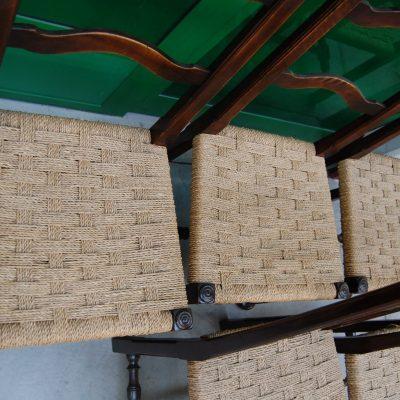 6 sedie in faggio massello rocchettate 800 seduta in paglia 01 6