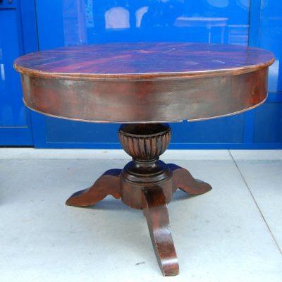 tavolo 800 mogano carlo x con lepre intarsiata diametro 103 cm 01 14