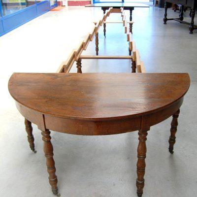 tavolo a mezza luna allungabile rovere fino a 5 m rovere 800 01 12