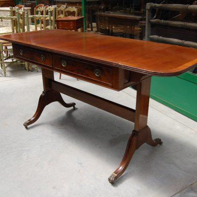 tavolo con alette in mogano inglese 800 lato 102 allungabile 01 1