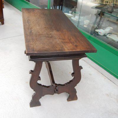 tavolo fratino gambe a lira noce 800 lato 125 cm 01 4