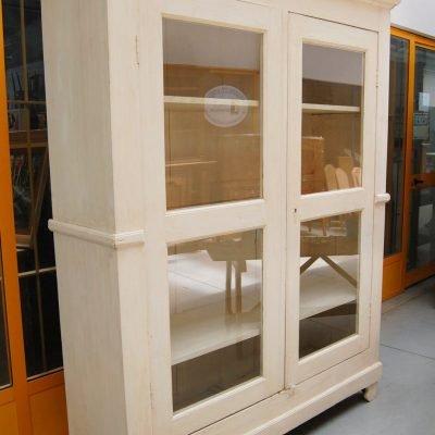 vetrina biblioteca libreria 800 laccata e patinata fronte 172 cm 01 15
