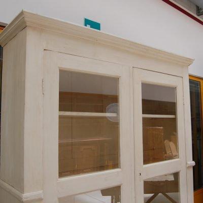 vetrina biblioteca libreria 800 laccata e patinata fronte 172 cm 01 9
