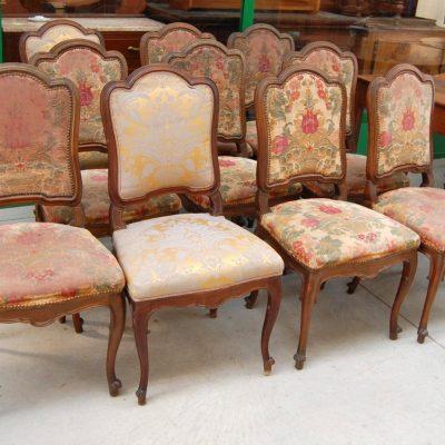 10 sedie imbottite fine 800 01 17