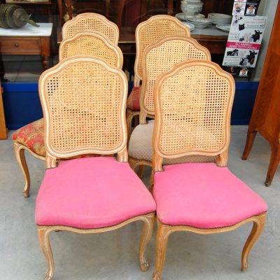 6 sedie imbottite schienale in paglia di vienna h 96 cm 01 15