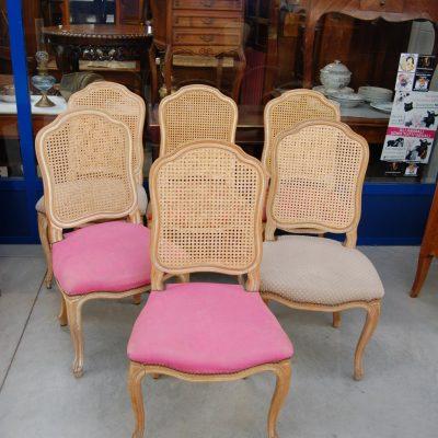 6 sedie imbottite schienale in paglia di vienna h 96 cm 01 3