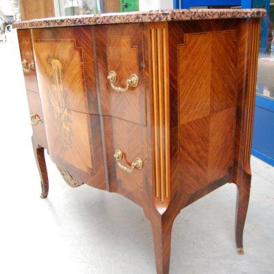 commode stile transizione palissandro bois de rose mogano fronte 101 cm 01 5
