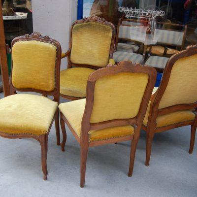 salotto composto da 2 poltrone e 2 sedie imbottite scolpite rocaille 800 01 10