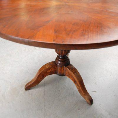 tavolo carlo x diametro 108 cm gamba intarsiata 01 15