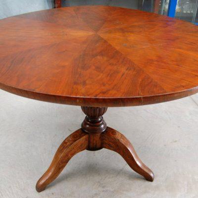 tavolo carlo x diametro 108 cm gamba intarsiata 01 18
