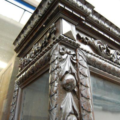vetrina 800 stile neorinascimentale scritta salve sul frontone fronte 98 cm 01 7