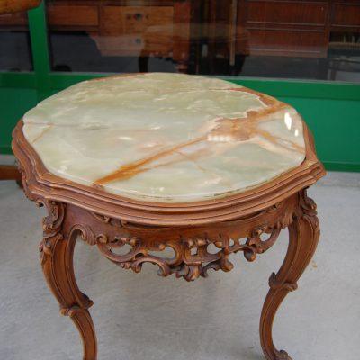 tavolino barocchetto piano in onice lato 88 cm 01 14