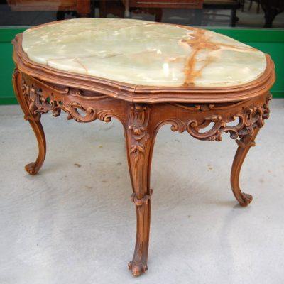 tavolino barocchetto piano in onice lato 88 cm 01 16