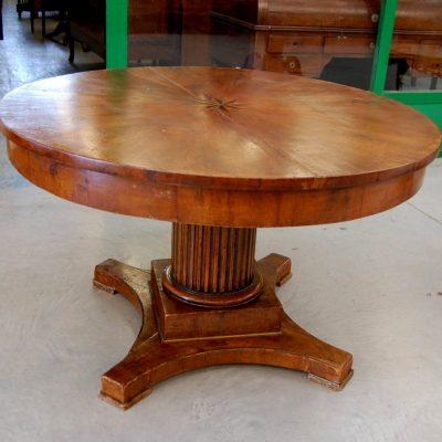 tavolo impero con gamba centrale diametro 115 cm 01 12