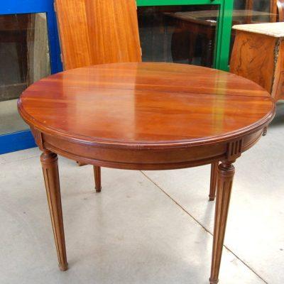 tavolo in ciliegio stile direttorio diametro 109 cm 2 allunghe 01 7