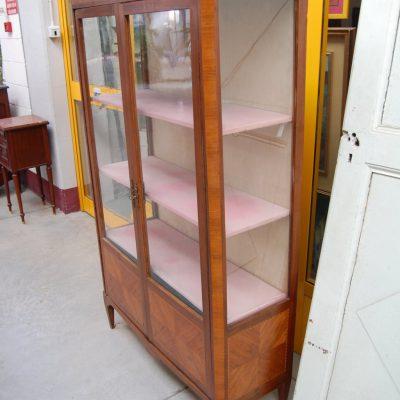 vetrina napoleone iii in mogano filetti intarsio fronte 103 cm 800 01
