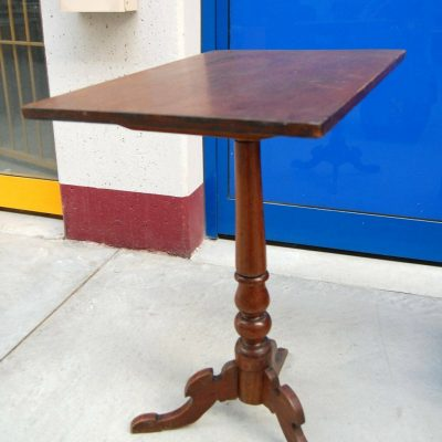 Tavolino Napoleone III 800 a vela piano reclinabile gamba centrale tornita 192694158070 2