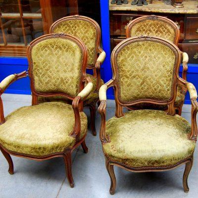4 piccole poltrone in stile Luigi XV SPEDIZIONE GRATUITA 192984041811 2